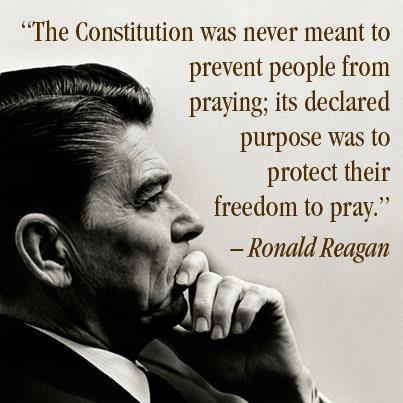 reagan on prayer